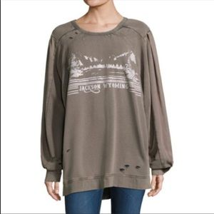 Free People Jackson Wyoming Distressed Sweater S